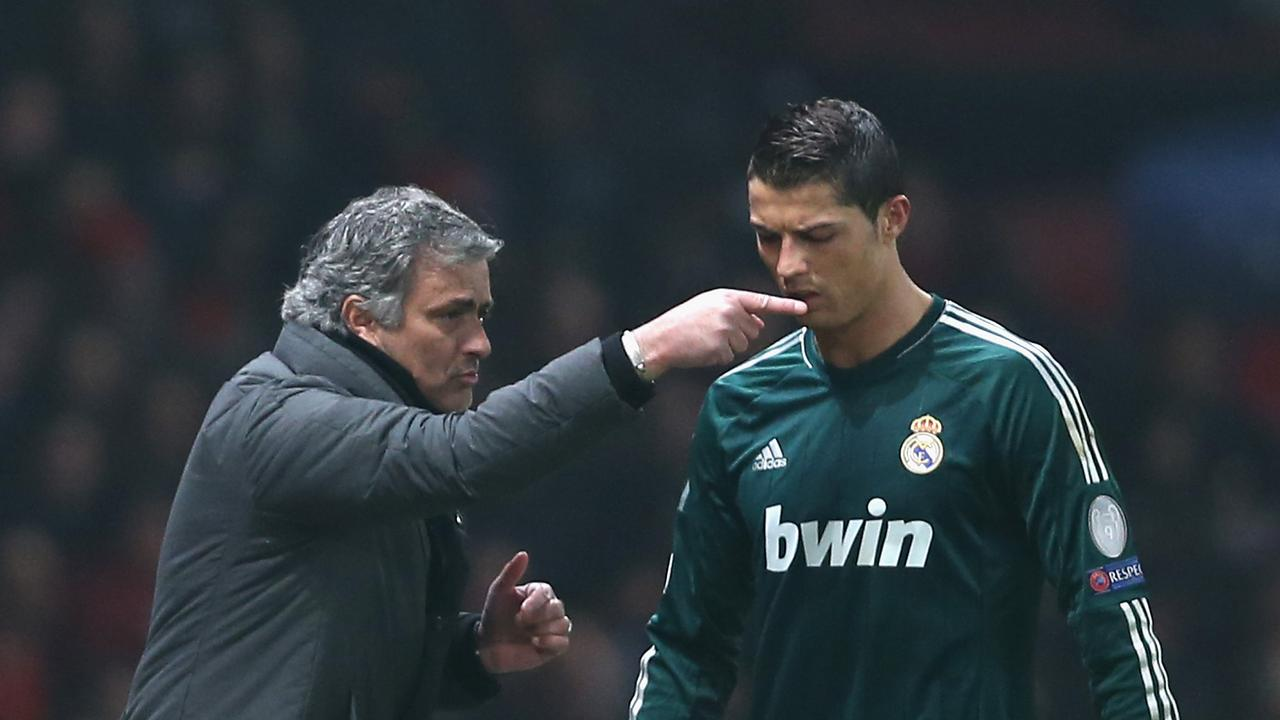 Jose Mourinho with Cristiano Ronaldo during their time together at Real Madrid.