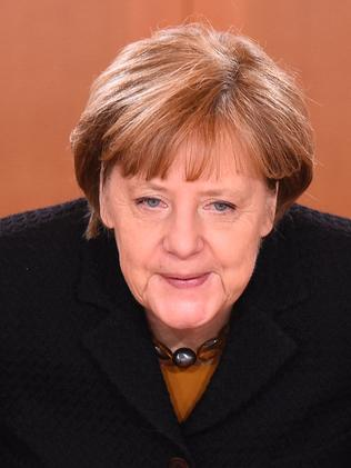 Taking action ... German Chancellor Angela Merkel wants the perpetrators to be found and punished. Picture: AFP/Tobias Schwarz