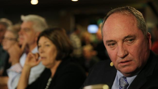 Barnaby Joyce on the set of Paul Murray Live at Tamworth Leagues Club. Picture: Peter Lorimer