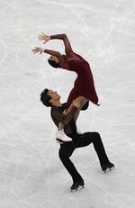 Tessa Virtue and Scott Moir of Canada. Picture: Richard Heathcote/Getty Images