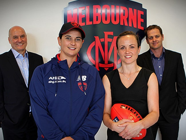 Michelle Cowan and Daisy Pearce have both been appointed to roles at Melbourne. Photo: Matthew Goodrope