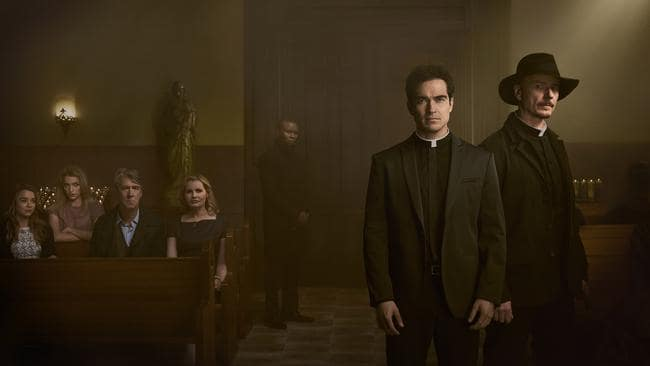 Fox's new thriller, The Exorcist, follows two priests who must save a family being terrorised by a demonic presence in their home. Picture: Patrick Ecclesine/FOX