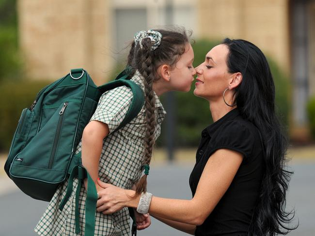 Montana Barbaro, who was abducted as a three-week-old, prepares for school with her mother Anita Ciancio.