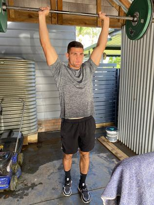 Nathan Cleary's strength is building. Picture: Nick Walshaw