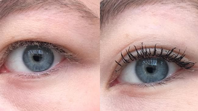 Brittany showing the results of L'oreal Paris Paradise Lash mascara. Picture: Supplied.