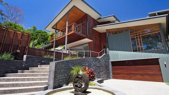 The house owned by Mark Webber in Noosa Heads.