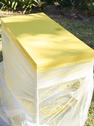 Hello yellow: the desk top gets a vivid new shade.