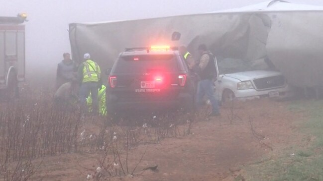 Local authorities clean up the wreckage. Picture: KCBD 11