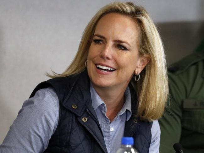 Homeland Security chief Kirstjen Nielsen has resigned. Picture: AP
