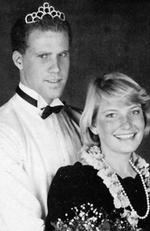 Will Ferrell - Comedian Will Ferrell proves he was always a joker in this black and white prom photo where he sports a tiara. Picture: Supplied