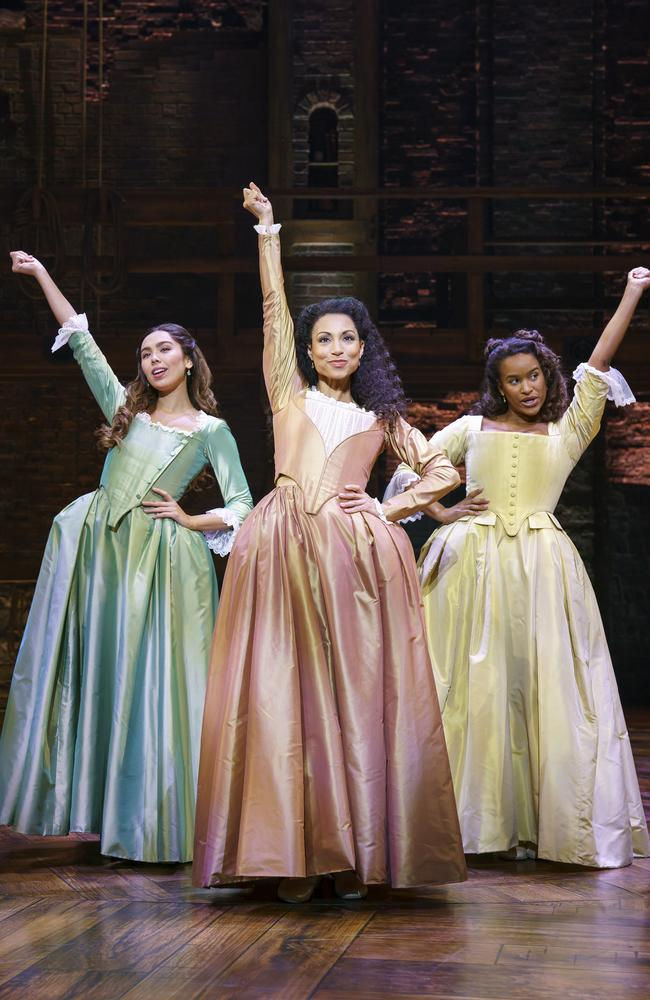 A stage scene from Hamilton the Musical. Picture: Supplied