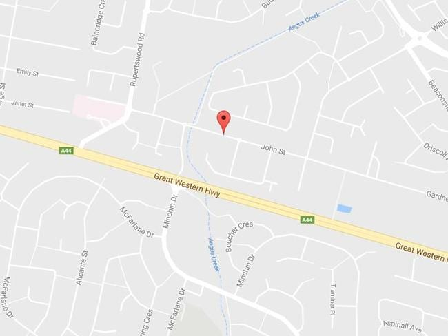 The body was found in a burning car in John St, Rooty Hill in Sydney's west. Picture: Google Maps
