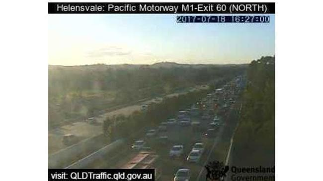 Traffic on the M1 at Helensvale at about 4.30pm. Picture: Supplied