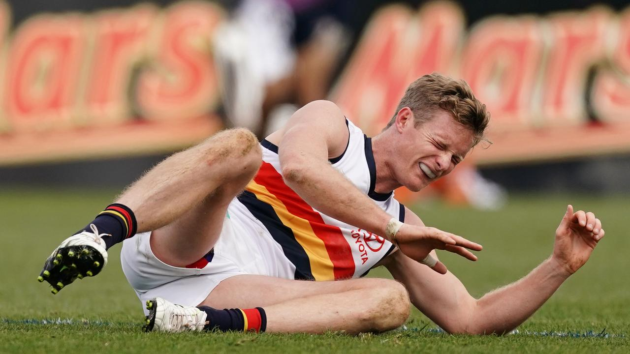Alex Keath in his final game for the Crows.
