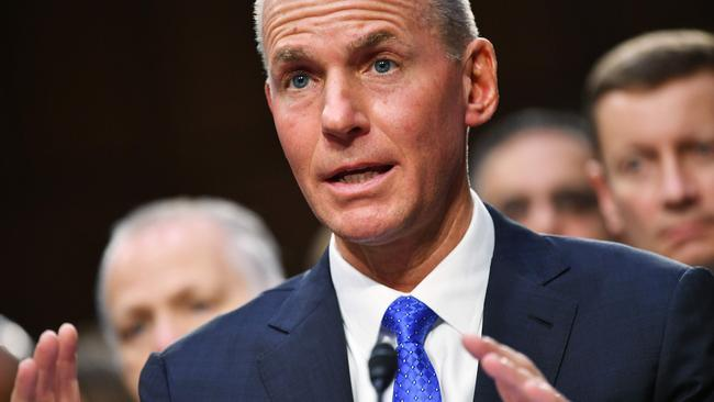 Boeing, has dramatically fired its chief executive officer Dennis Muilenburg after a year of crisis and intense scrutiny for the company. Picture: MANDEL NGAN / AFP.