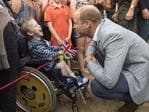 Prince William, Duke of Cambridge meets Jaydon Mitchell-Tomlinson, 5, who suffers from cerebal palsey as he visits the work of the Wave Project on Newquay's Towan Beach, an organisation that uses surfing as a tool to reduce anxiety in children and improve their mental wellbeing on September 1, 2016 in Newquay, United Kingdom. Picture: Getty