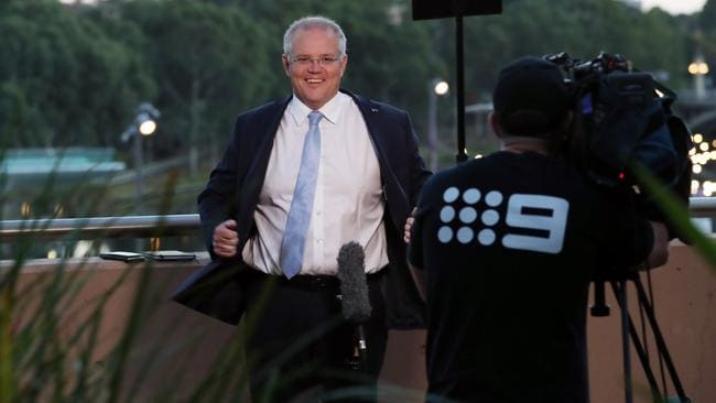 Prime Minister Scott Morrison was soft on Clive Palmer during his morning TV interviews and dodged questions on what discussions the Coalition has had with him. Picture Gary Ramage