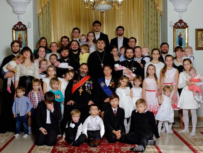 The Russian Orthodox family (complete with 18 children) featured in Marcel Theroux's report 'Putin's Family Values'. This is the type of family celebrated in Russia in 2017.