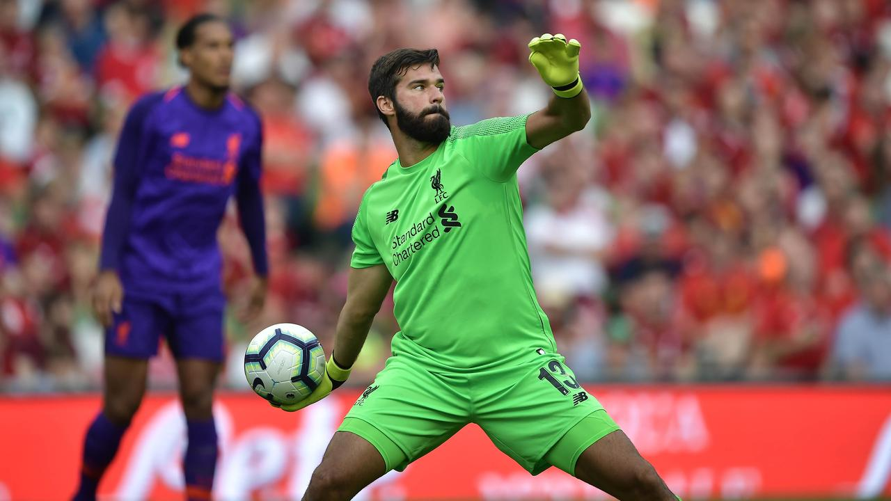 Alisson Becker makes his debut for Liverpool.