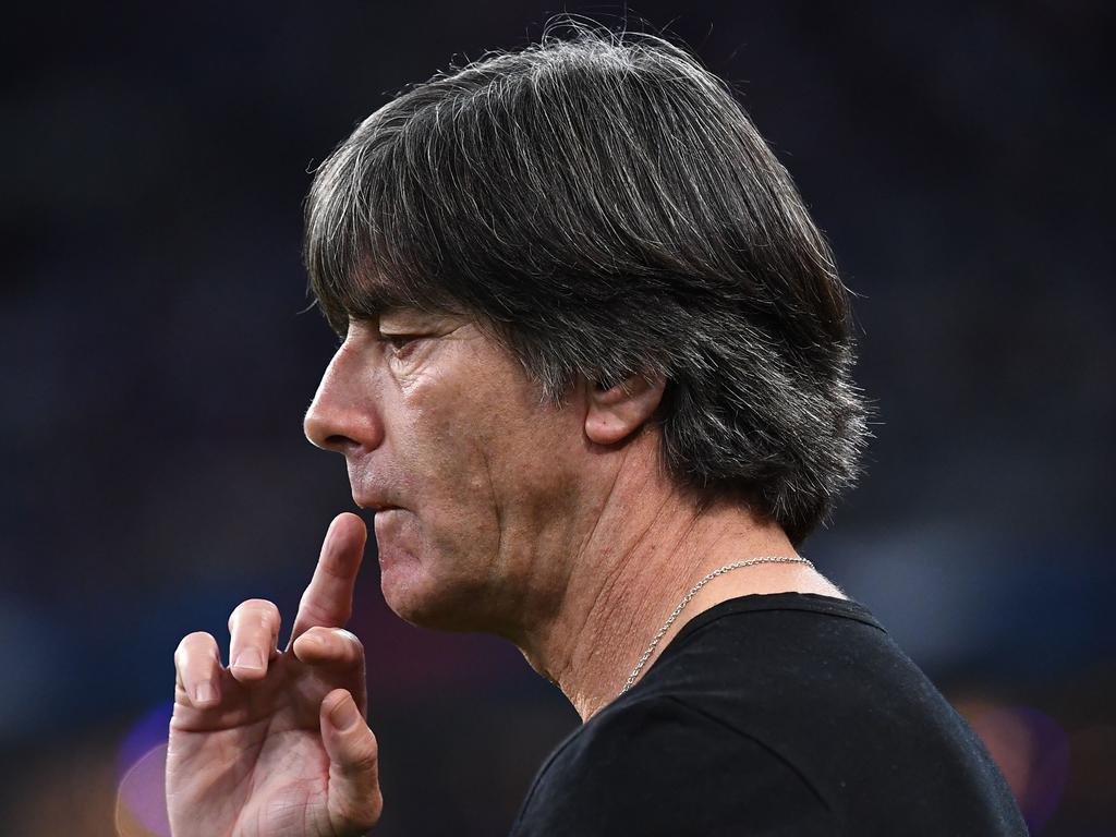 Germany's head coach Joachim Loew gestures during the UEFA Nations League football match between France and Germany at the Stade de France in Saint-Denis, near Paris on October 16, 2018. (Photo by Anne-Christine POUJOULAT / AFP)