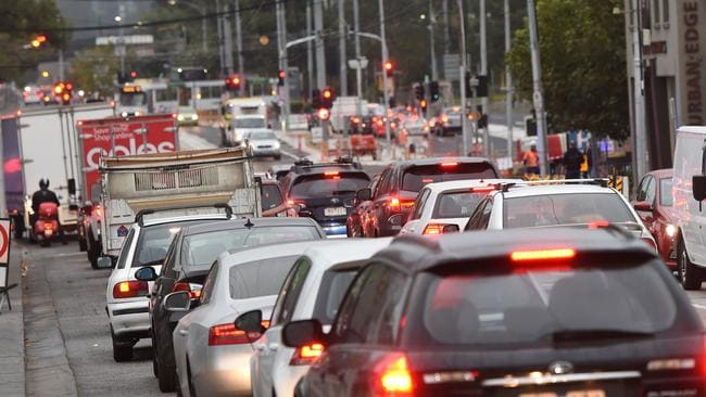 It has been estimated road congestion costs the national economy $16.5 billion annually. Picture: Tony Gough