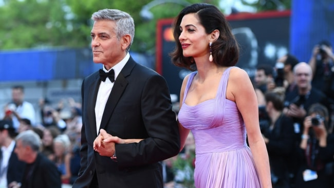 George Clooney and his family are in Sardinia while he works on miniseries Catch-22. Picture: Getty
