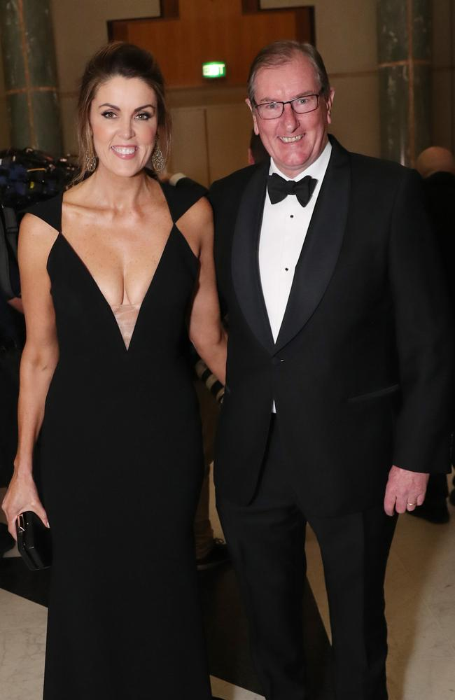 Sky News host Peta Credlin and her husband Brian Loughnane. Pic: Gary Ramage