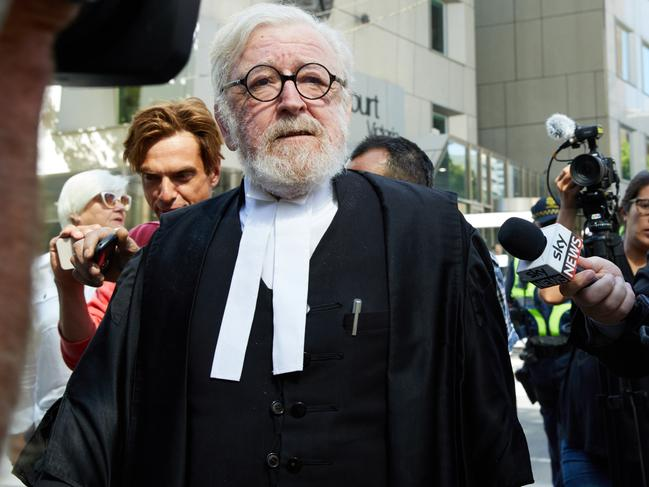 Cardinal George Pell's lawyer Robert Richter QC leaves the County Court in Melbourne, Australia, Wednesday, February 27, 2019. Picture: AAP