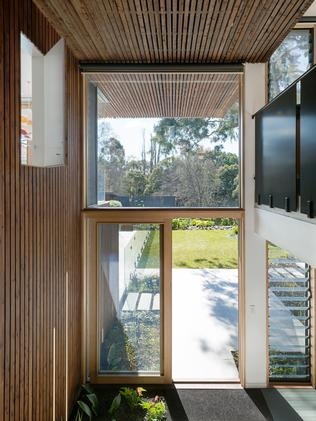 High windows and ceilings contribute to the expansive sense of space.