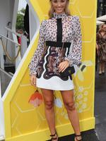 Brooke Hogan in the Bumble marquee. Photo: Alex Coppel
