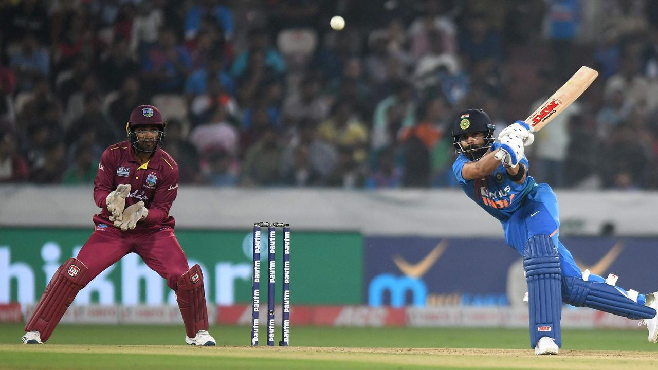 Indian captain Virat Kohli is in the running for cricketer of the decade. Picture: Noah Seelam / AFP