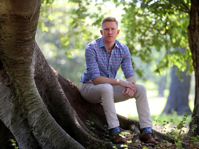 Former Aussie Rules player and current Greens candidate Jason Ball. Picture: David Geraghty / The Australian
