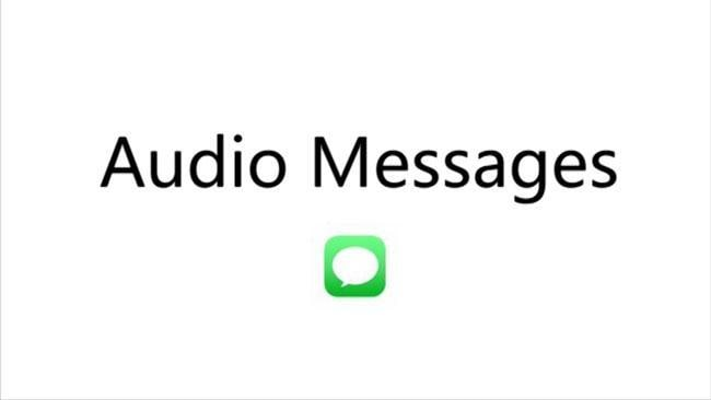 Audio messages on the iPhone 6