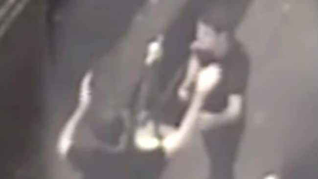 They had been caught on CCTV in London's West End high-fiving and hugging after the rape. Image: Supplied