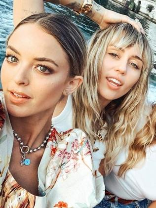 Miley Cyrus and Kaitlynn Carter. Picture: Instagram