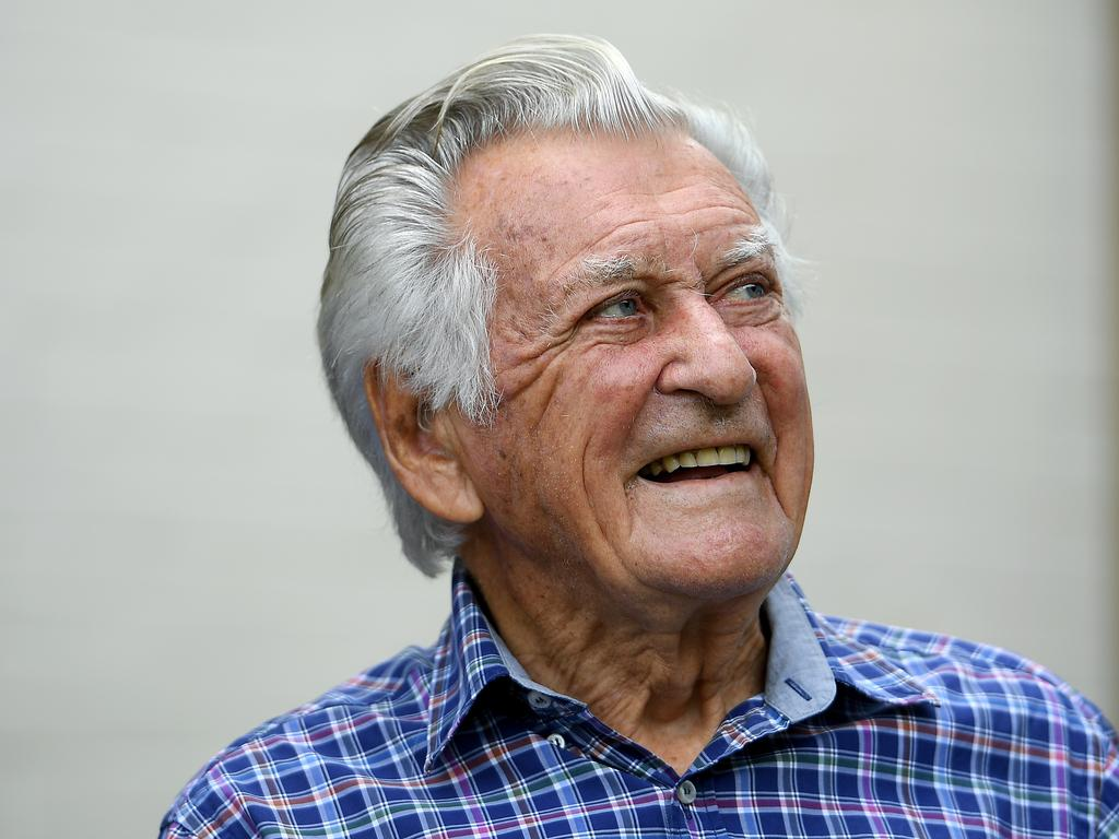 **FILE** A Thursday, December 7, 2017 file photo of former prime minister Bob Hawke looks on at a media event to celebrate his 88th birthday, in Sydney. Bob Hawke, who served as Australia's 23rd prime minister from 1983-1991 and led Labor to four consecutive election victories, died at the age of 89, Thursday, May 16, 2019. (AAP Image/Dan Himbrechts) NO ARCHIVING
