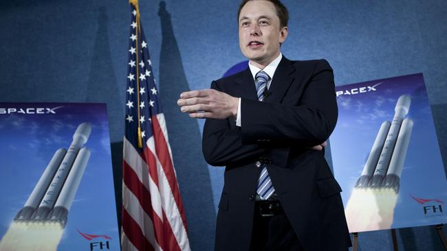 Elon Musk, CEO of Space Exploration Technologies Corp, speaks during a news conference back in 2011.