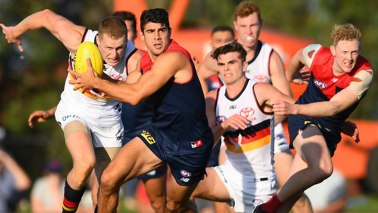 Christian Petracca was outstanding for Melbourne. Photo: Quinn Rooney/Getty Images.