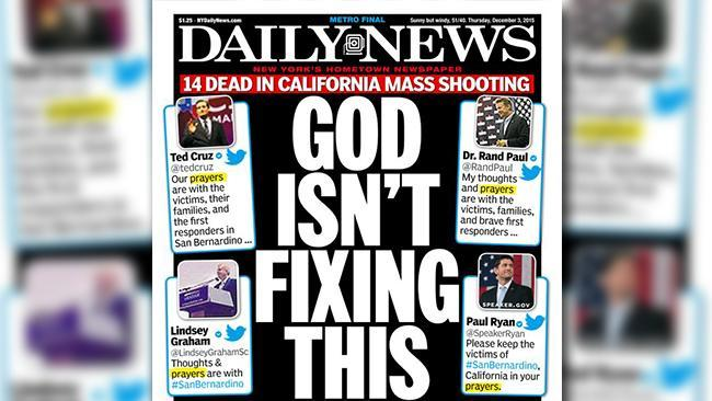 News anchor outraged by headline 'God Isn't Fixing This'