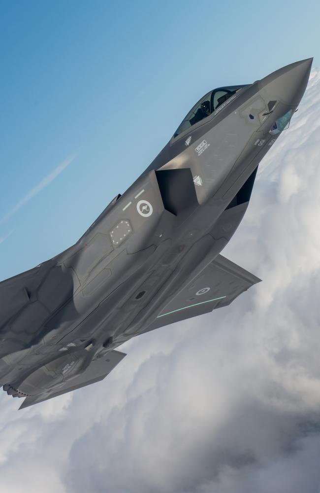 Going ballistic? An Australian F-35A Lightning II aircraft on its maiden flight. Source: Lockheed Martin.