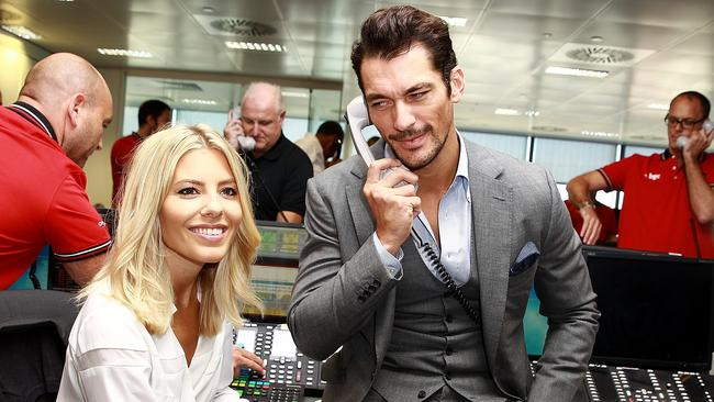 Mollie King and David Gandy attend the annual BGC Global Charity Day at BGC Partners on September 11, 2015 in London. Picture: Fred Duval / Getty Images