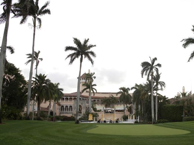 President Trump's Mar-a-Lago has withstood four hurricanes in the past but is in a geographically exposed position and will be tested by Irma. Picture: AP Photo/Lynne Sladky.