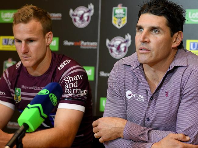 Trent Barrett is still technically employed by Manly.