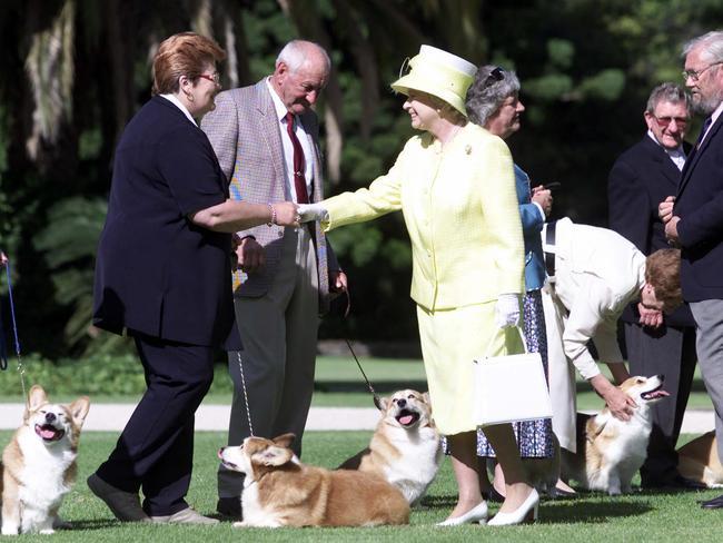 The Queen in corgi-er days.