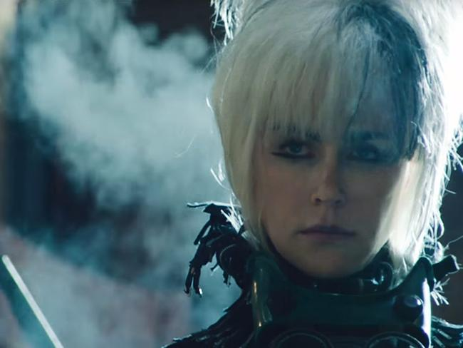 She probably won't wear this hair 'do to the Oscars. Picture: A24/YouTube