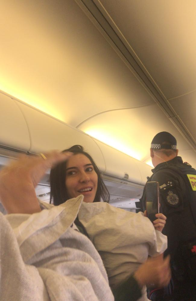 The Veronicas getting turfed from a flight.