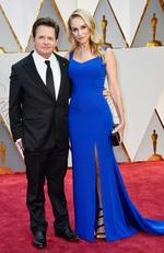 Michael J. Fox and Tracy Pollan attend the 89th Annual Academy Awards on February 26, 2017 in Hollywood, California. Picture: AFP
