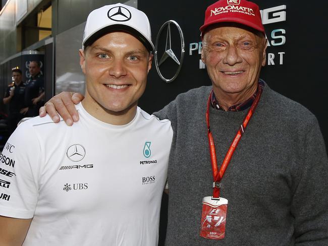 Niki Lauda at the 2017 Australian Grand Prix.