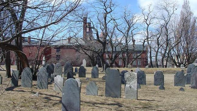 Some accused witches were buried in this Salem cemetery. Picture: Facebook/Witch Hunt Podcast