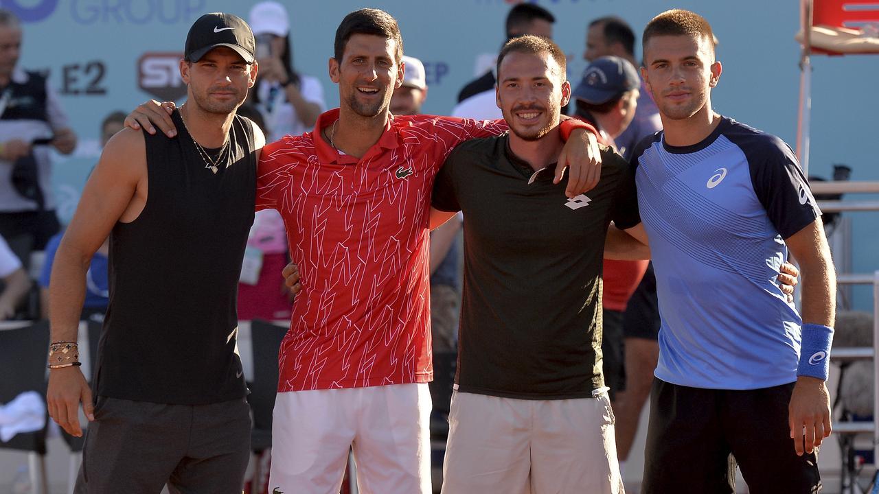All four have tested positive to coronavirus. (AP Photo/Zvonko Kucelin)